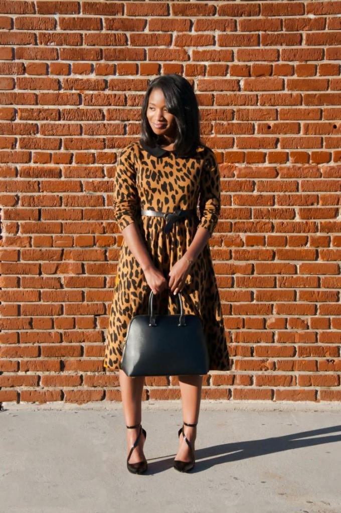 that leopard dress via dainty jewells 2 - downtown demure