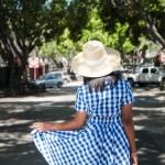 Gingham + Sun Hats // My 2nd eShakti Dress
