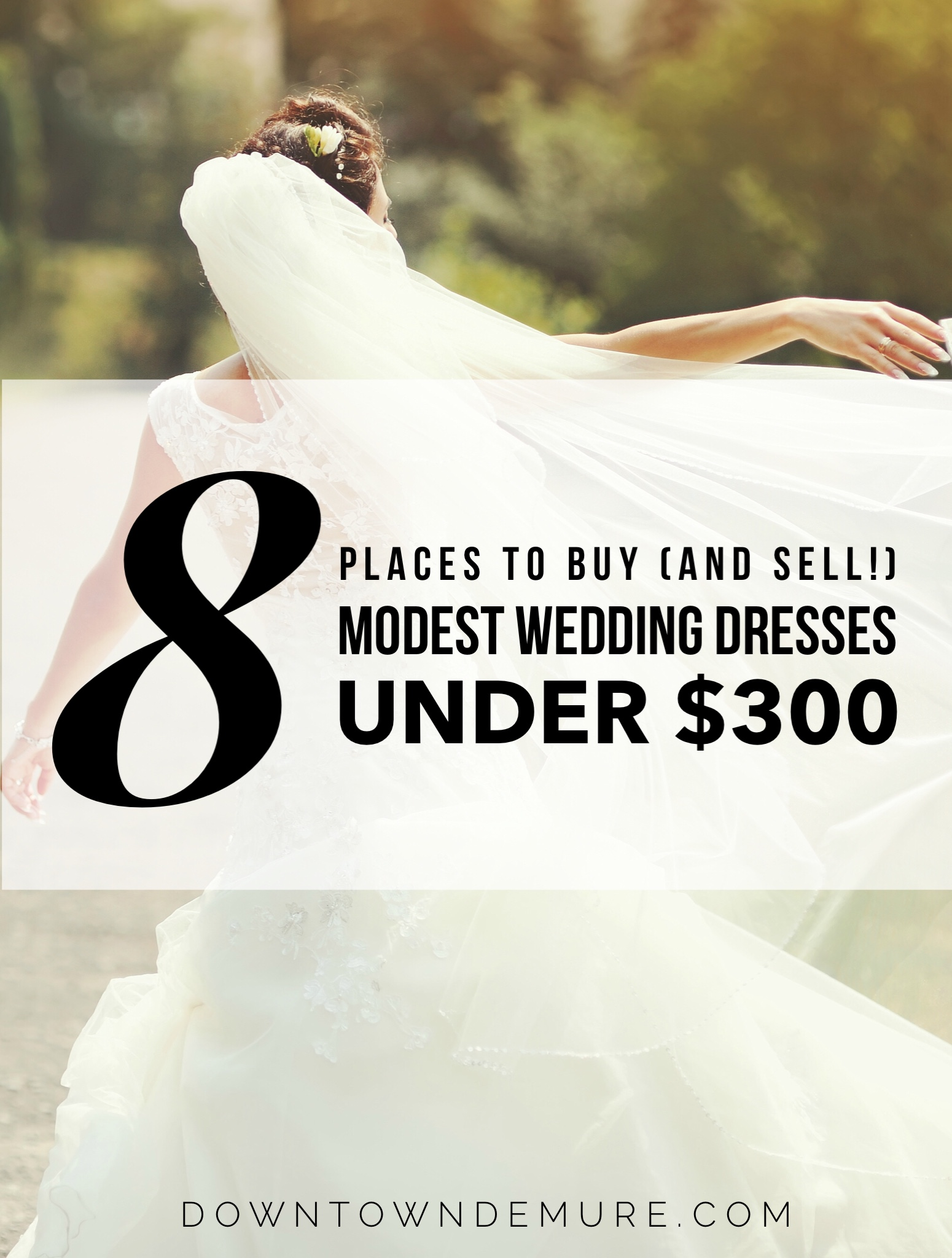 8 places to buy and sell modest wedding dresses under for Places to sell my wedding dress