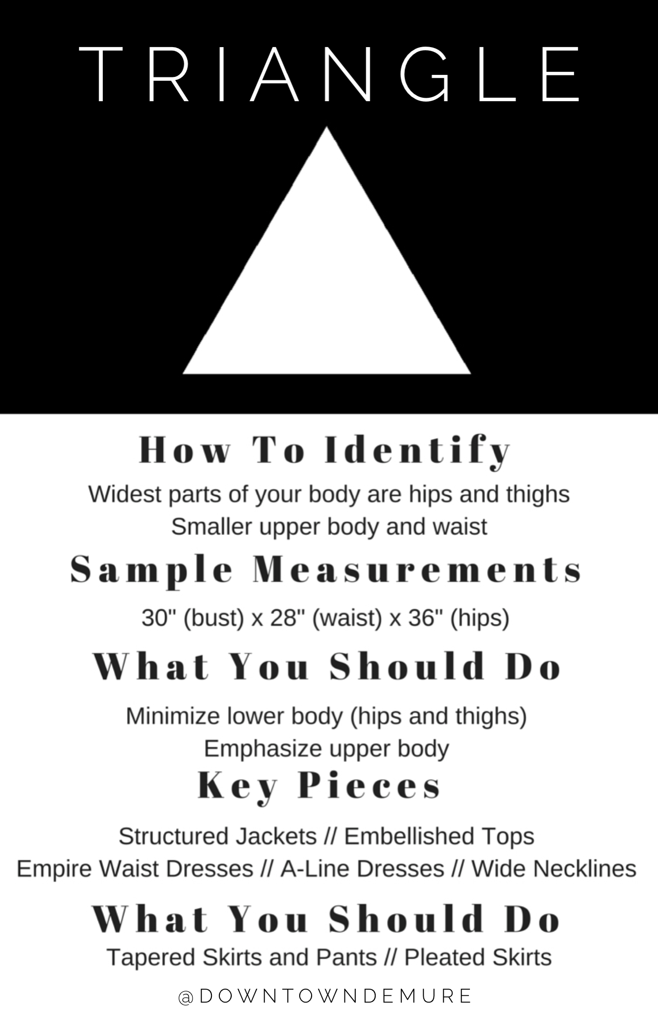 Style Tips for Women with Triangle Bodies