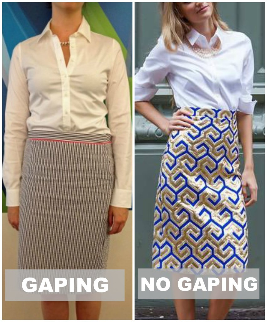 gaping shirt tips via downtown demure