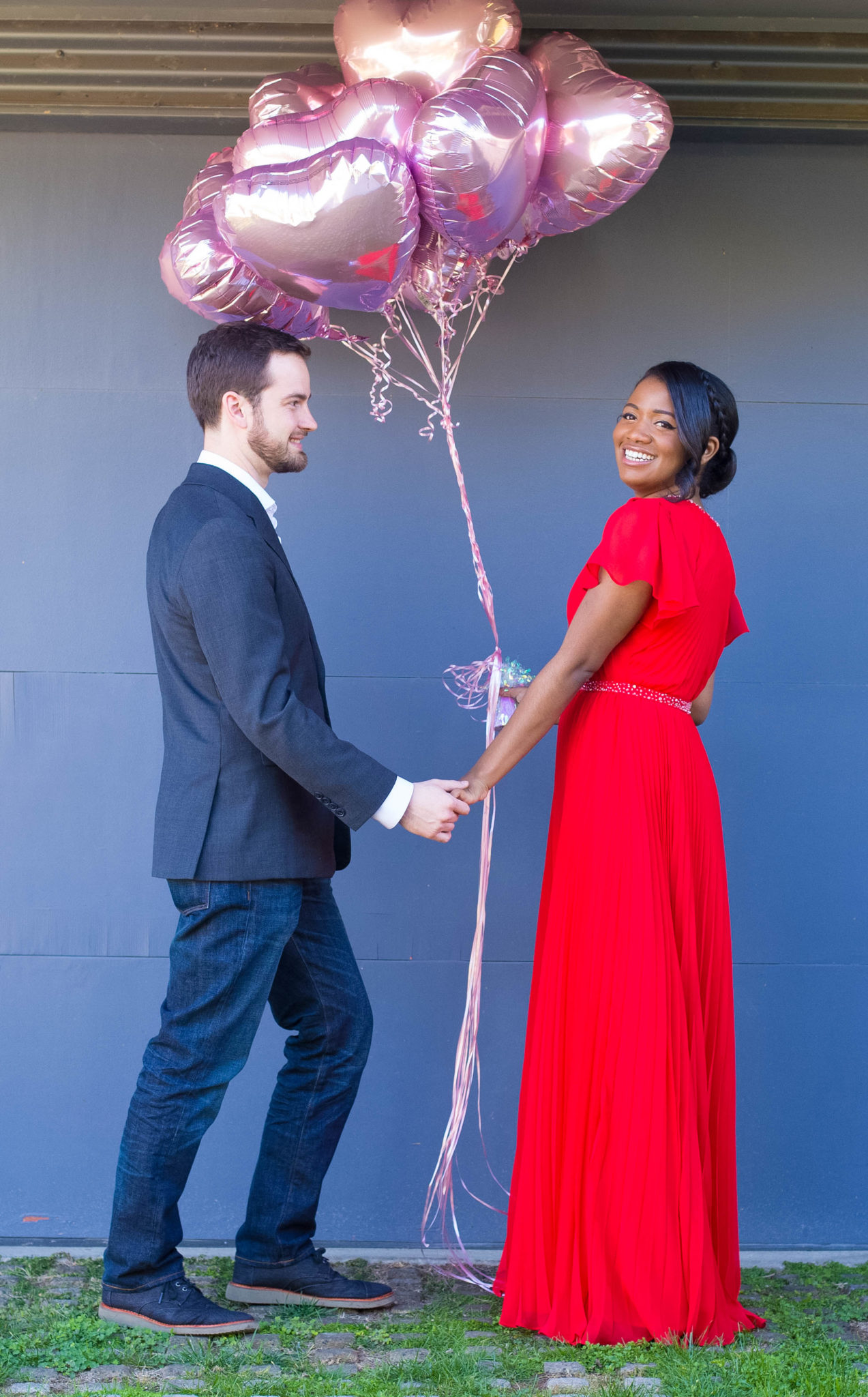 Modest Bridesmaid Dress and Valentine Outfit Idea from Azazie via DowntownDemure.com l A Modest Fashion Blog (2)