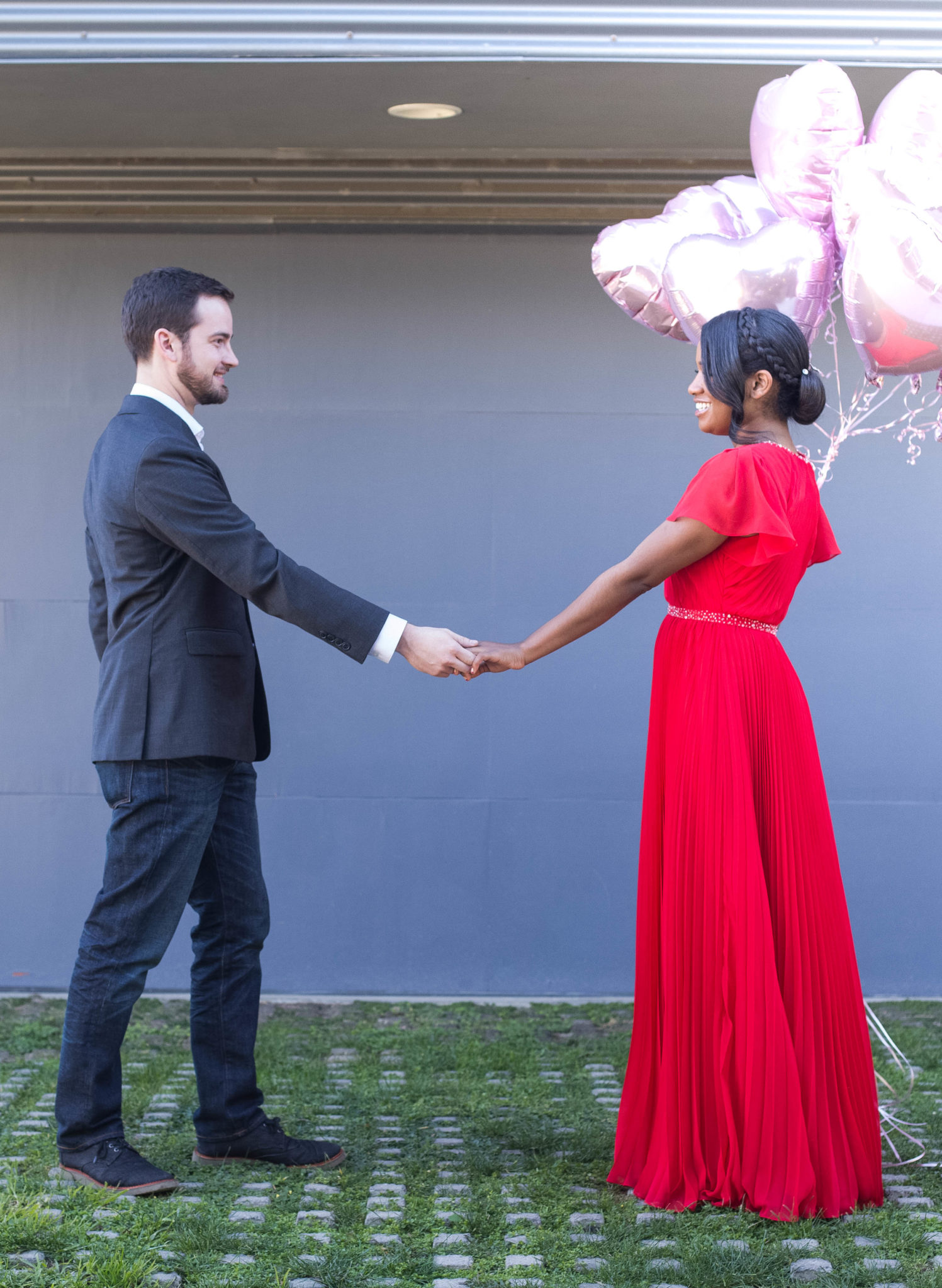 Modest Bridesmaid Dress and Valentine Outfit Idea from Azazie via DowntownDemure.com l A Modest Fashion Blog