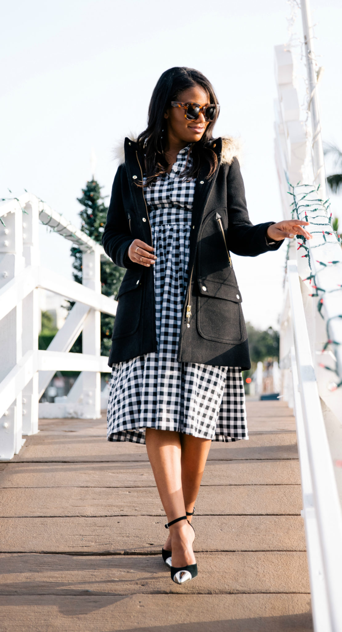 black and white gingham dress from dainty jewells via downtowndemure.com