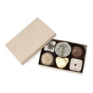 valentine gift idea - cocoa butter truffle bath soaks from UnCommon Goods