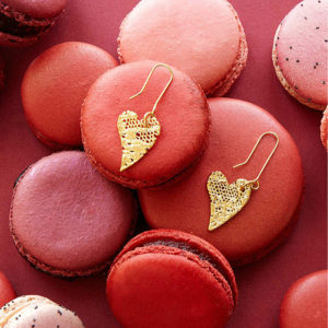 valentine gift idea - gold heart eaarings from UnCommon Goods