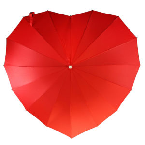 valentine gift idea - red heart umbrella from UnCommon Goods